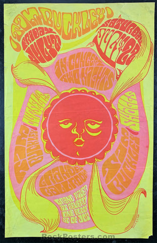 AUCTION - Tim Buckley 1967 Concert Poster - Grande Ballroom - Good