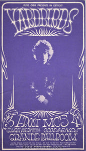 AUCTION - GB34  - Yardbirds Jimmy Page Postcard - Grande Ballroom - Condition - Near Mint Minus