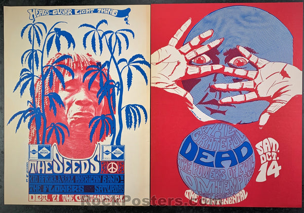 AUCTION - Grateful Dead - Guru Newspaper Grateful Dead Seeds 1967 Continental Posters - Santa Clara - Condition(s) - Excellent and Near  Mint