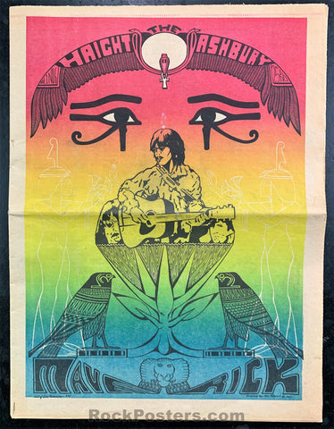 AUCTION - Psychedelic - Haight Ashbury Maverick Number Six - 1967 Underground Newspaper - Near Mint