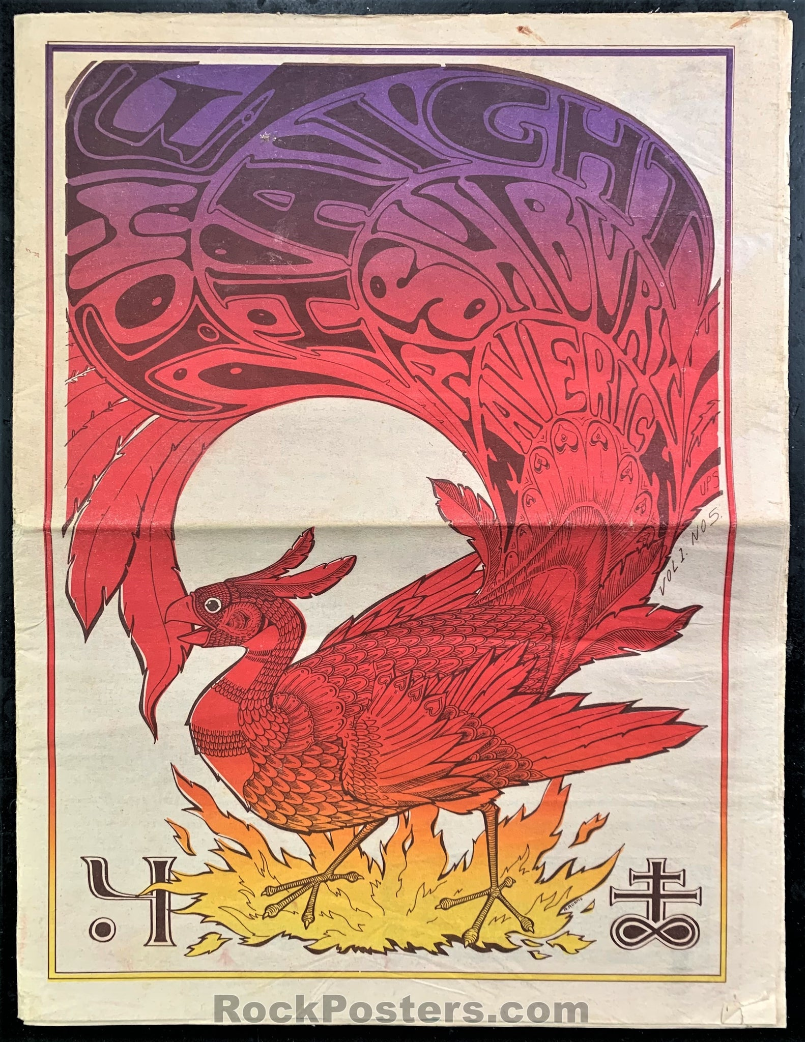 AUCTION - Psychedelic - Haight Ashbury Maverick Number Five 1967 - Underground Newspaper  - Very Good