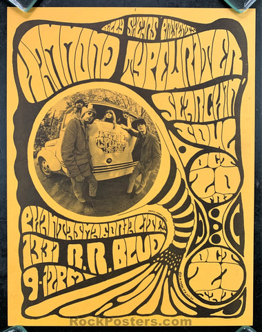 AUCTION - Hammond Typewriter -  Oregon  1967 Psychedelic Concert Poster - Condition - Excellent