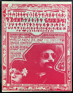 AUCTION - Pasadena Spirit 1967 Concert Poster - Civic Auditorium - Condition - Excellent