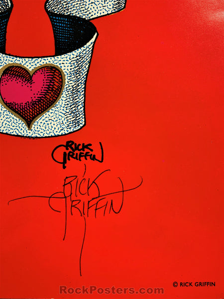AUCTION - AOR 2.358 - Hog Farm - Rick Griffin Signed Poster - 1976 European Edition - Condition - Excellent