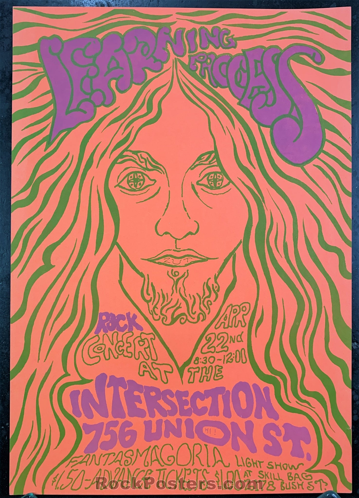 AUCTION - Psychedelic - San Francisco 60's Poster - The Intersection - Condition - Excellent