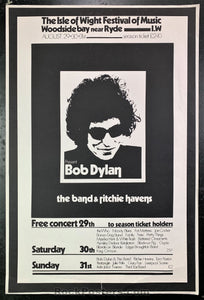 Isle of Wight - Bob Dylan The Band - 1969 Poster - Very Good