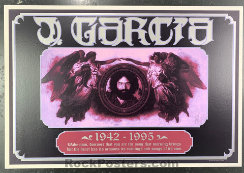 AUCTION - Alton Kelley Collection - Jerry Garcia 1995 Poster -  Kelley Herb Greene Signed - Condition - Near Mint