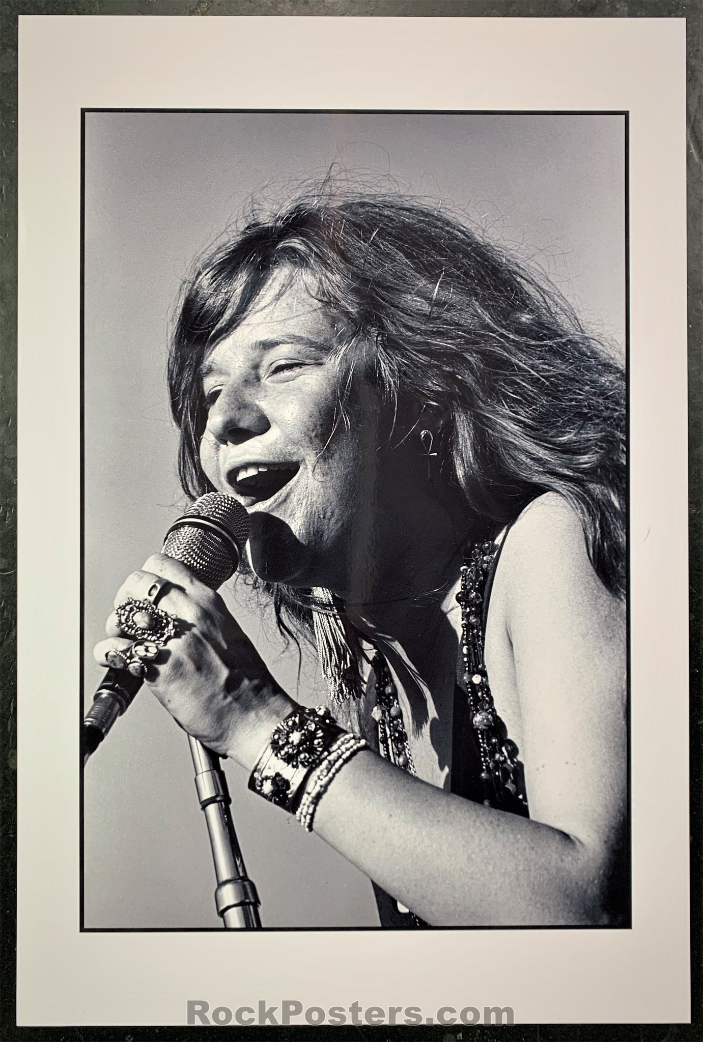 AOR-2.341 - Janis Joplin Live 1968 Concert Photo - Nor Cal Folk-Rock Fest - Near Mint