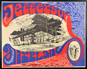 AUCTION -  AOR 3.36 -  Jefferson Airplane Band  & Artist Signed 1967 Poster - Cal Poly - Condition - Near Mint Minus
