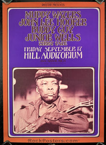 AUCTION - AOR Pg.331 - John Lee Hooker Grimshaw 1971 Poster - Hill Auditorium - Condition - Near Mint Minus