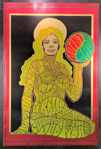 AUCTION - AOR 2.349 - Joint Show Wes Wilson Original Foil Poster 1967 - Moore Gallery - Condition - Near Mint Minus