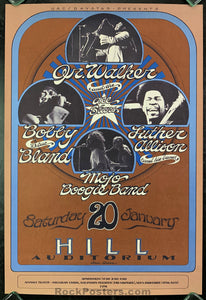 "AUCTION - R&B Soul - Jr. Walker Bobby ""Blue"" Bland Grimshaw 1973 Poster - Hill Auditorium - Condition - Near Mint Minus"