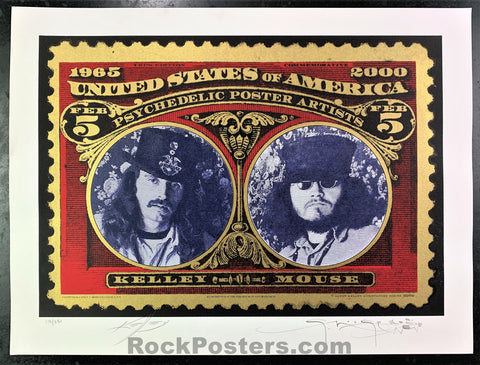 AUCTION - Alton Kelley Collection - Kelley & Mouse Psychedelic Poster Artists - Double Signed  - Condition - Near Mint