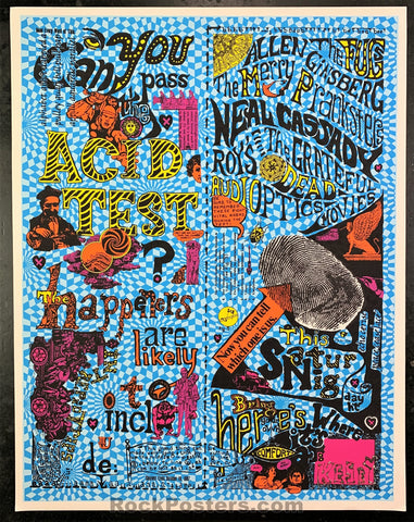 AUCTION - AOR 2.4 - Ken Kesey Pranksters Signed 2nd Print Silkscreen Poster - Muir Beach - Condition - Excellent