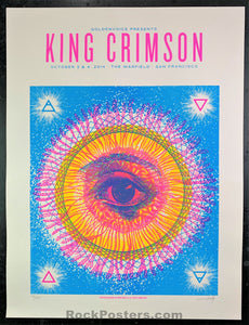 AUCTION - King Crimson - 2014 Warfield Artist Signed Poster - Condition - Near Mint Minus