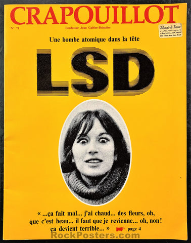 AUCTION - Drugs - 1966 LSD French Magazine - Condition - Near Mint Minus