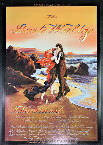 AUCTION - AOR 4.46 - The Last Waltz The Band Bob Dylan Poster - Near Mint Minus