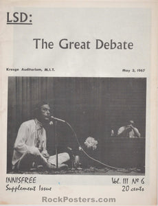 AUCTION - Drugs - Timothy Leary 1967 LSD Debate Transcript - Condition - Near Mint Minus