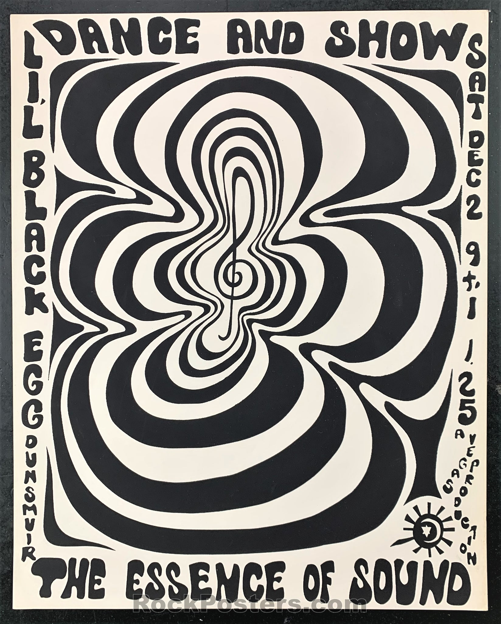 AUCTION - Dance & Show - Psychedelic  1967 Concert Poster  - Northern California - Condition - Near Mint Minus
