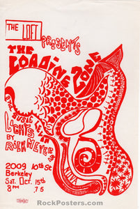 AUCTION - Loading Zone - Berkeley 1966 Original Handbill - The Loft - Condition - Near Mint Minus