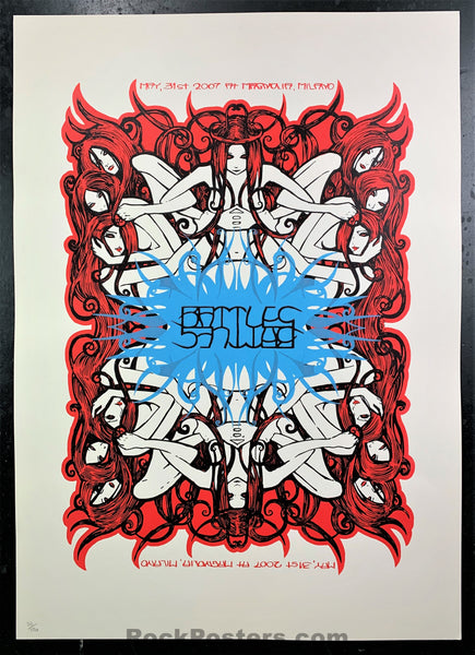 Malleus - Battles  - 2007 Poster - Signed & Numbered  - Milano -  Near Mint Minus