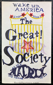 AUCTION - Great Society Hand-Made One-Of-A-Kind 1966 Poster - The Matrix - Excellent