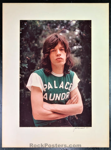 Rolling Stones - Mick Jagger 1977 Photograph - Jim Marshall Signed - Excellent