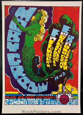 AUCTION - Moby Grape 1967 Concert Poster - The Ark - Condition - Near Mint