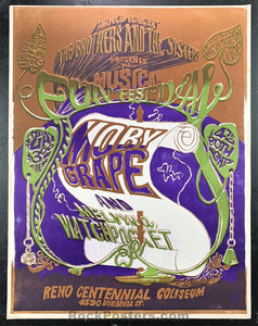 AUCTION - Moby Grape  - 1967 Psychedelic Concert Poster - Reno Coliseum - Condition - Very Good