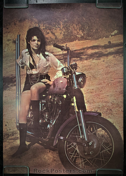AUCTION - Biker Culture  -  Girls on Motorcycles Posters (2) - Condition - Very Good