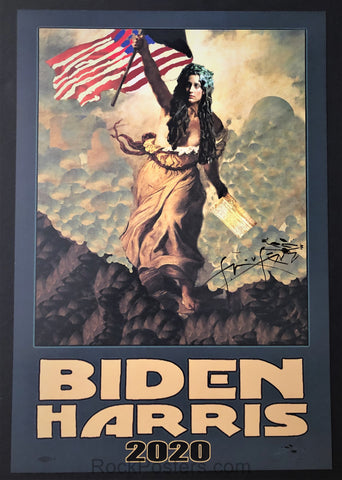 AUCTION - Biden Harris 2020/Haight Street Art Center 2020 - Mouse Signed Posters - Mint/Near Mint Minus