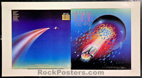 AUCTION - Journey - Stanley Mouse Signed 1981 Album Cover - Condition - Near Mint
