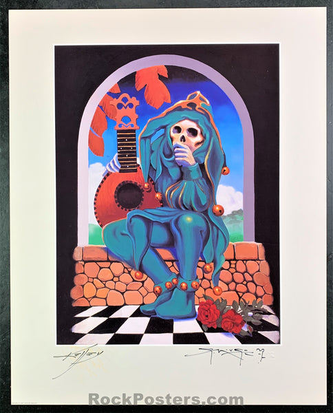 AUCTION - Grateful Dead - The Jester Mouse Kelley Double Signed Poster - Condition - Mint