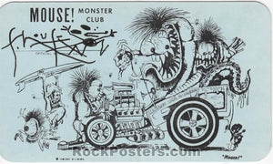 AUCTION - Monster Club - Stanley Mouse Signed 1962 Membership Card - Detroit - Condition - Near Mint