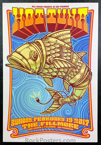 NF-1464 - Hot Tuna Poster - Fillmore Auditorium - Condition - Near Mint Minus