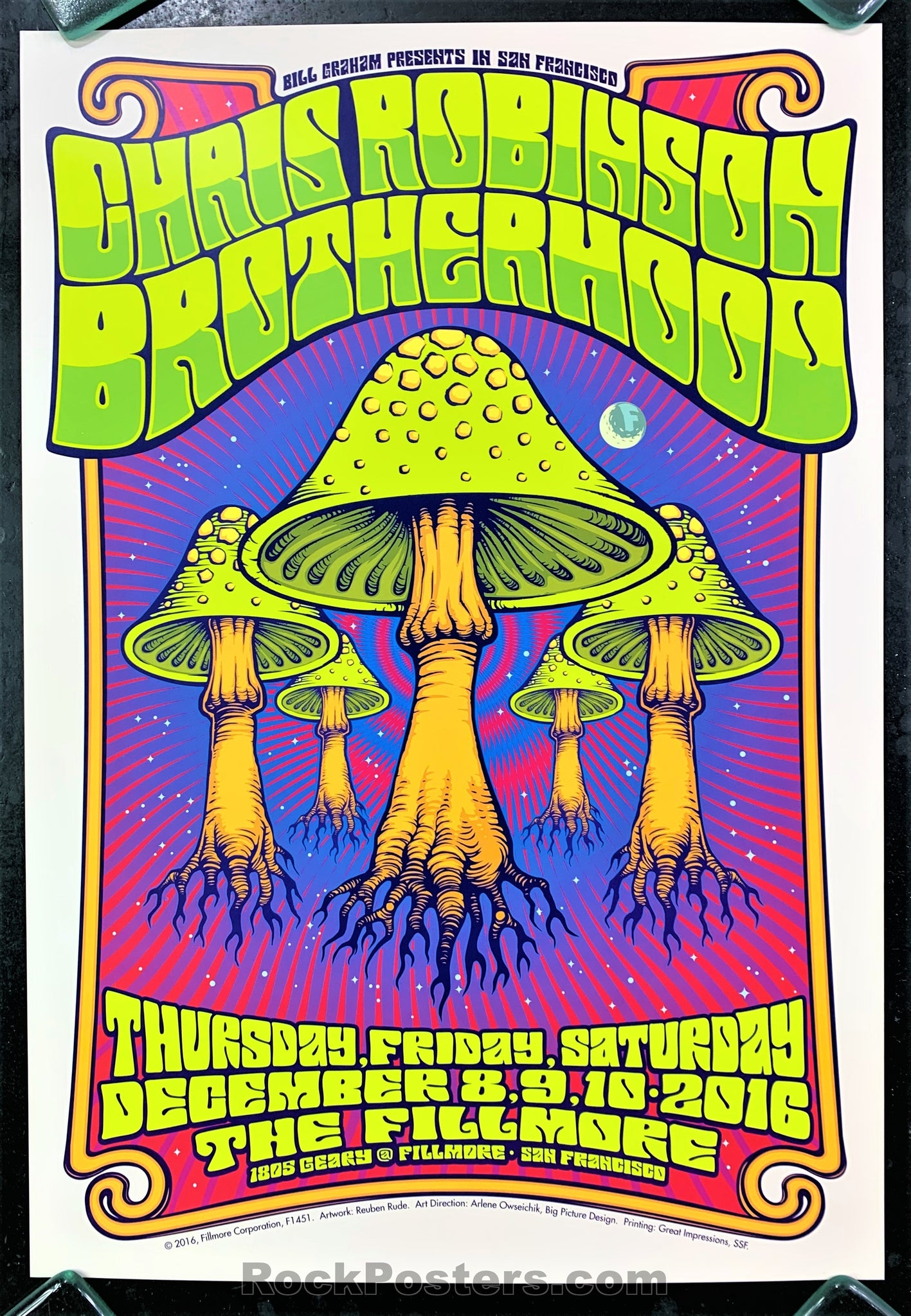 NF-1451 - Chris Robinson Brotherhood Poster - Fillmore Auditorium - Condition - Near Mint Minus