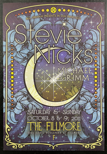 NF-1116 - Stevie Nicks Poster - Fillmore Auditorium - Condition - Near Mint Minus