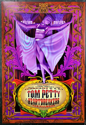 NF-255 - Tom Petty and The Heartbreakers Poster - Fillmore Auditorium - Condition - Mint