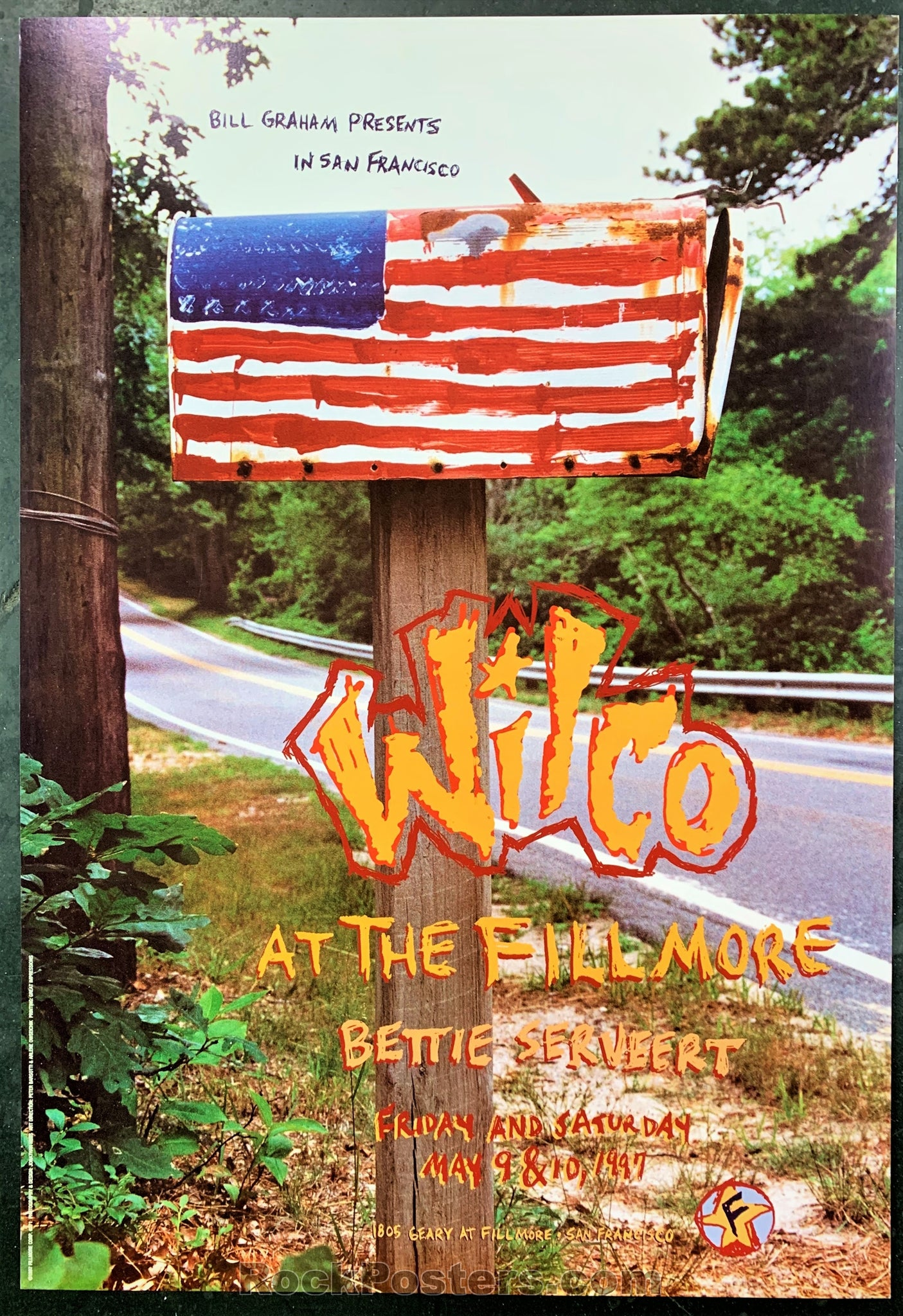 NF-271 - Wilco Poster - Fillmore Auditorium - Condition - Near Mint Minus