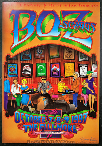 NF-294 - Boz Scaggs Poster - Randy Tuten Signed - Fillmore Auditorium - Condition - Near Mint Minus