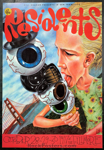 NF-298 - The Residents Poster - Fillmore Auditorium - Condition - Near Mint Minus