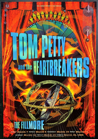 NF-367 - Tom Petty and The Heartbreakers Poster - Fillmore Auditorium - Condition - Near Mint