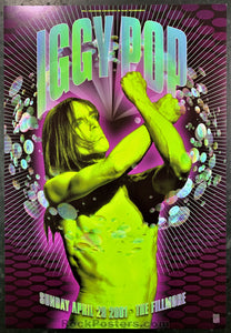 NF-457 - Iggy Pop Poster - Fillmore Auditorium - Condition - Near Mint Minus