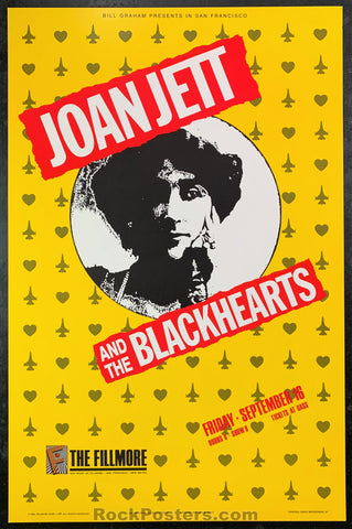 NF-49 - Joan Jett & The Blackhearts Poster - Fillmore Auditorium - Condition - Near Mint Minus