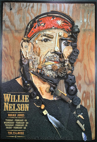 NF-511 - Willie Nelson Poster - Fillmore Auditorium - Condition - Near Mint Minus