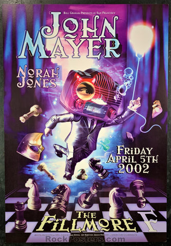 NF-516 - John Mayer Norah Jones  Poster - Fillmore Auditorium - Condition - Near Mint