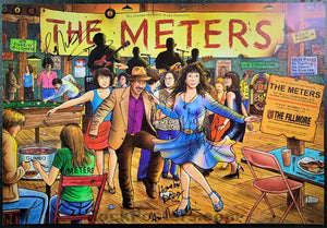 NF-828 - The Meters Signed - 2006 Poster - Fillmore Auditorium - Near Mint Minus