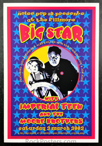 Noise Pop - Big Star - 2002 Poster - Fillmore Auditorium - Near Mint Minus
