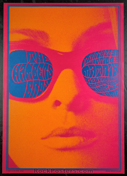 AUCTION - AOR2.128 - Chambers Brothers Neon Rose Signed Poster - The Matrix - Condition - Near Mint Minus