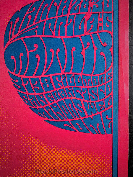 AUCTION - AOR2.128 - Chambers Brothers Neon Rose Poster - The Matrix - Condition - Near Mint Minus